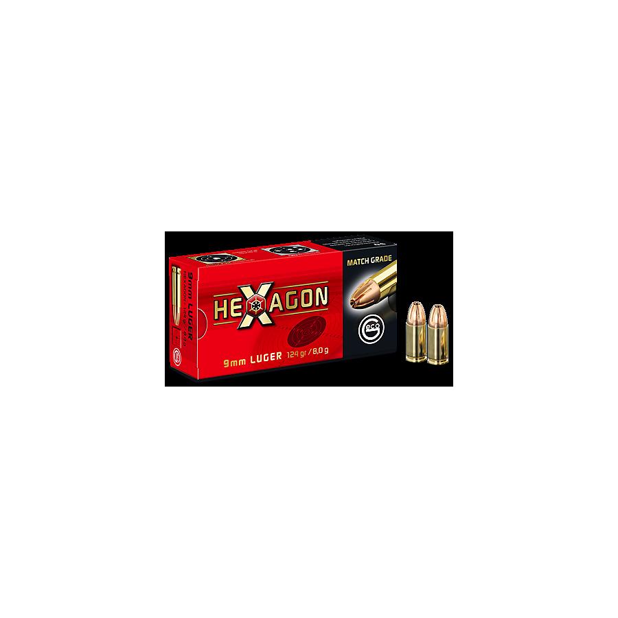 Geco 9X19 HEXAGON 124 GRS x50