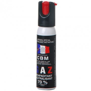 Bombe de Défense 25 ml Gaz CS