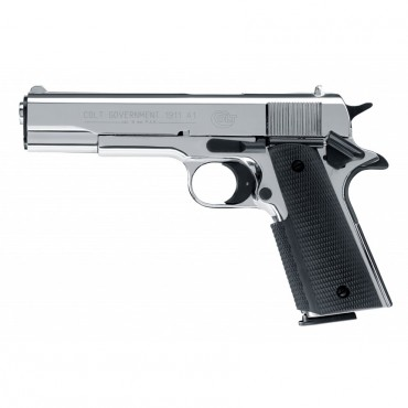 Colt Government 1911 A1 - Chromé Cal. 9mm PAK Umarex