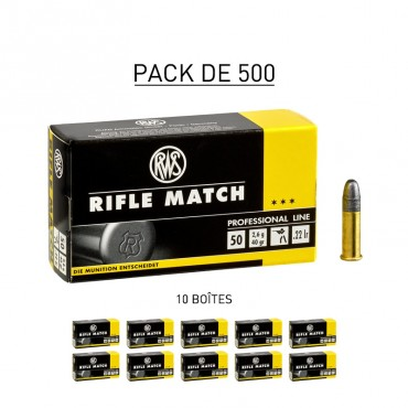 22lr Rifle Match - ECO BOX 500 - RWS