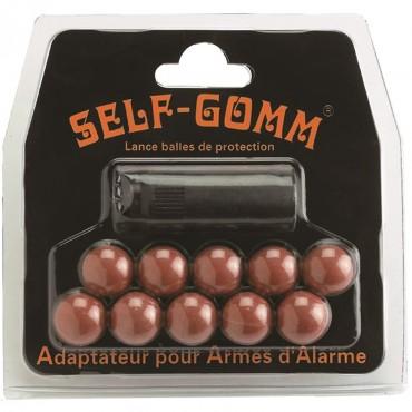 Self-Gomm thread for blank guns M10x150 + 10 rubber balls - SAPL