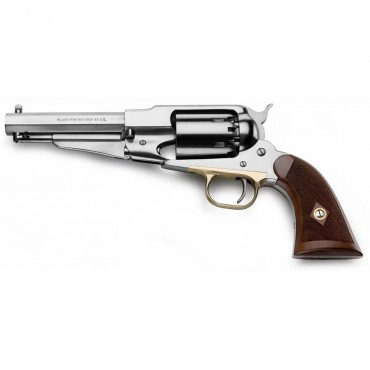Remington 1858 Inox Satiné - Revolver Poudre Noire Cal. 44 - Pietta