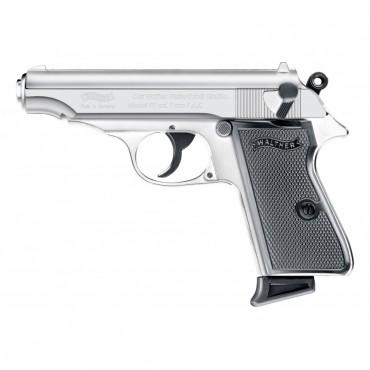 Walther PP - CHROME Cal. 9mm PAK - Umarex