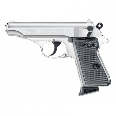 Walther PP - CHROMED Cal. 9mm PAK - Umarex