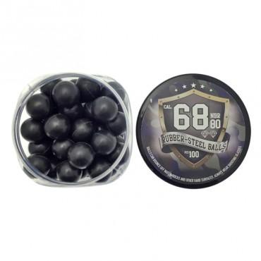 Billes de Défense - Caoutchouc Métal - Cal. 68 - Rubber Balls