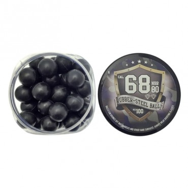 Defensive Balls - Rubber Metal - Cal. 68 - Rubber Balls