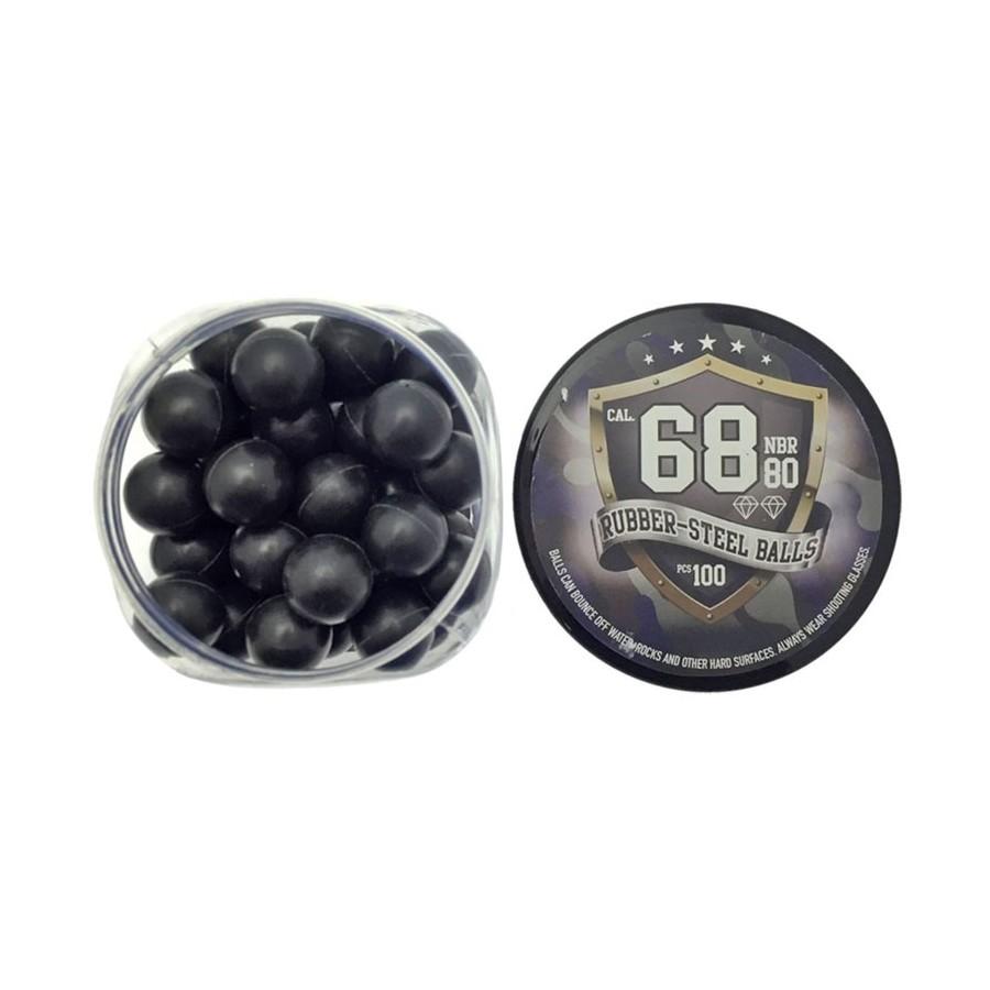 Defensive Balls - Rubber Metal - Cal. 68 - Rubber Balls