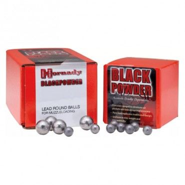 Balles rondes en plomb - Cal .451 - 44 Poudre Noire - Hornady